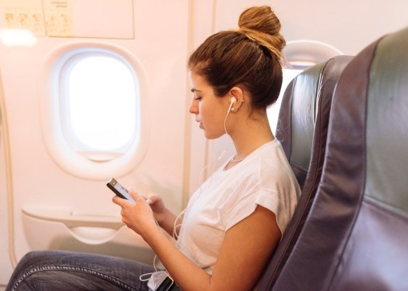 Bluetooth devices while flying through airplanes